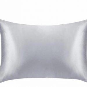 100% Satin Pillowcase Queen 20x30 Inches 1-Piece Sliver Trendy Joys