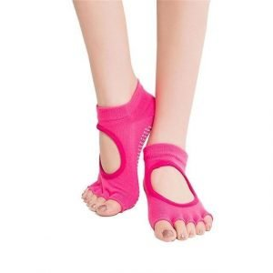 2 Pairs Five Toes Socks Women Yoga Socks Hot Pink Trendy Joys