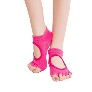 2 Pairs Five Toes Socks Women Yoga Socks Hot Pink Trendy Joys