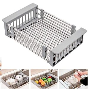 Adjustable Stainless In Sink Dish Rack Trendy Joys