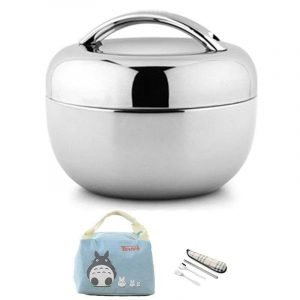 Adult Lunch Box Stainless Steel with Bag 1000ml And Bag Set Trendy Joys