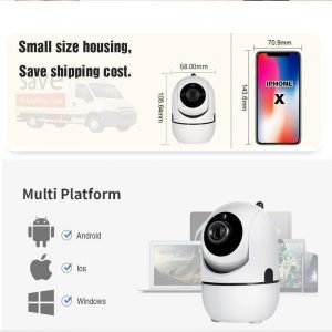 Auto Tracking Camera 720P (Black) / US Plug Trendy Joys