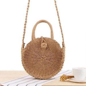 Bamboo Bag - Sling Bag Light Brown Small Trendy Joys