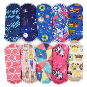 Bamboo Reusable Menstrual Sanitary Pads 10 PCS Trendy Joys