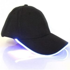 Baseball Punk Hip Hop Light Up LED Hat Blue Trendy Joys