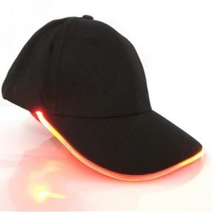 Baseball Punk Hip Hop Light Up LED Hat Red Trendy Joys
