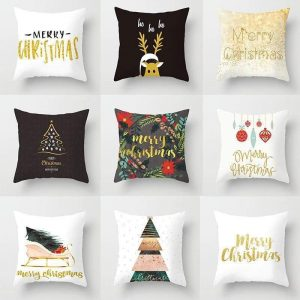 Christmas Series Pillow Covers Trendy Joys