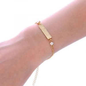 Custom Gold Engraved Bracelet Trendy Joys