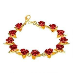 Dozen Roses Bracelet Gold Trendy Joys