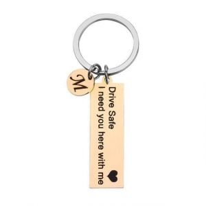 Drive Safe Keychain Gold / A Trendy Joys