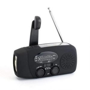 Emergency Survival Hand Crank Torch & Radio Black Trendy Joys