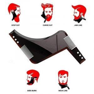 Essential Beard Shaping Tool & Comb Transparent Black Eloxtras
