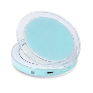 LED Compact Travel Makeup Mirror Green Trendy Joys