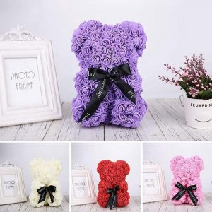 Rose Bear Purple Trendy Joys