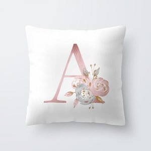 Throw Pillow Covers 17.7 x 17.7 inches Letter Pillowcase Trendy Joys