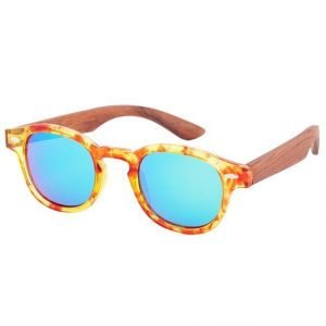 Women's Bamboo Sunglasses Marble and Brown Trendy Joys