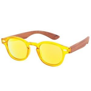 Women's Bamboo Sunglasses Yellow Trendy Joys